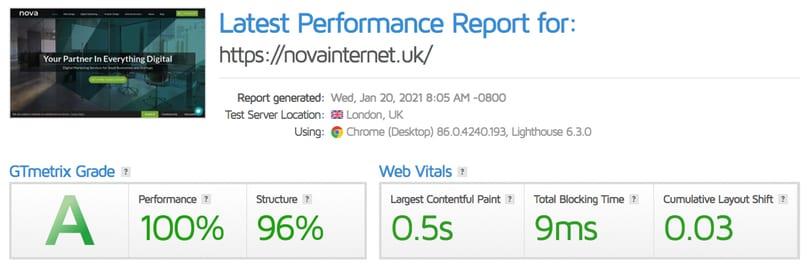 how to test website speed using GTmetrix