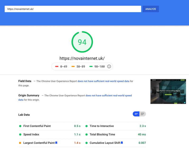 how to test website speed using pagespeed insights